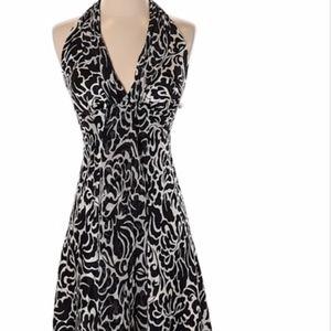 White House Black Market Silk Halter Top Dress